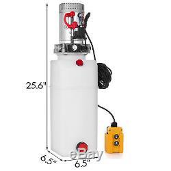 8l Simple Effet Pompe Hydraulique Remorque À Déchargement 24v Contrôle Kit Power Unit