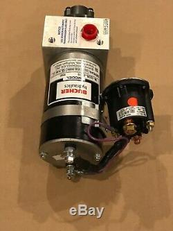 Bucher Hydraulics Pompe 24v Essoucheuse Dump Boîte M-3226-0109 Powerpack # 10143