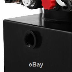 Dc12v 8 Pintes Haut Débit Hydraulique À Double Effet Pompe D'alimentation Unité Dump Trailer