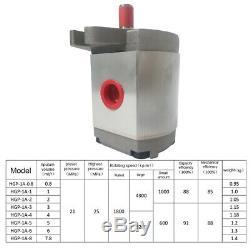 Engrenage Hydraulique Simple Effet Pompe 21mpa 0.8-8ml / R Pour Pelle Dump Trailer