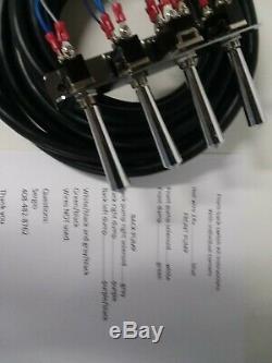Hydraulique De Lowriders- (précâblé) 2-pompe -3dumps F-b-bl-br Kit With17 Ft Cord