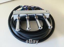 Hydraulique De Lowriders- (précâblé) 2-pump + 4 Dumps Kit F-b-bl-br With17 Ft Cord