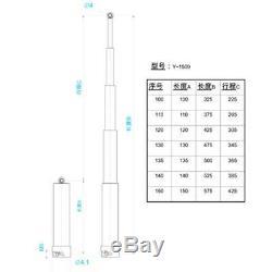 Lesu 130mm Pompe Hydraulique Cylindre Set Rétractable 1/14 Rc Tamiya Dump Truck Diy