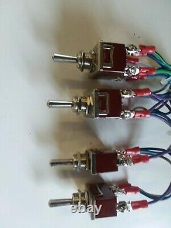 Lowrider Hydraulique Switch-pre-wired 2 Pump +4dumps F-b-bl-br 17 Ft Cordon D'interrupteur