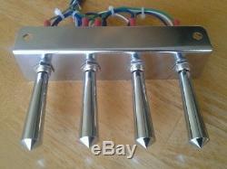 Lowriders- Hydraulique / Précâblé / 2-pump + 4 Dumps Kit F-b-bl-br Avec 15 Ft Cord