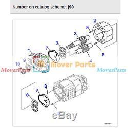 Montage De La Pompe Hydraulique 705-95-03021 Pour Tombereau Komatsu Hd465-7 Hd605-7