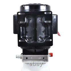 Nouveau 10l Single Acting Hydraulic Pump Dump Trailer 220v Power Unit Lift For Car
