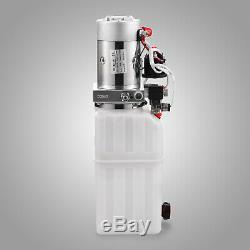 Nouvelle Unité D'alimentation De Remorque De Décharge De La Pompe Hydraulique 12v À Double Effet De Réservoir De 8 Pintes