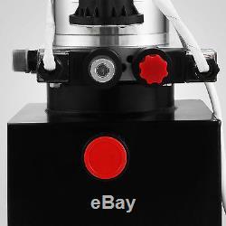Paquet D'unité De Réservoir 12v De Réservoir De Remorque De Décharge De Pompe Hydraulique À Double Effet De 8 Pintes