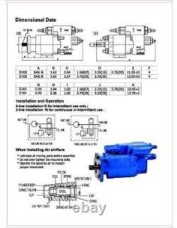Pompe À Benne Hydraulique G102-ras-20, Montage Dire, Rotation Cw, 2.0 Gear, Air, Oem
