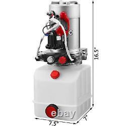 Pompe Hydraulique 12v Pour Remorque À Benne À Benne -4 Quart- Double Action Et Déchargement De L'unité