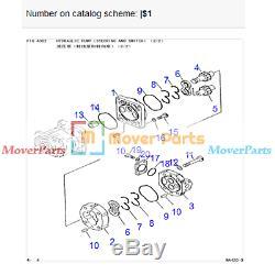 Pompe Hydraulique 705-14-33540 Pour Komatsu Camions Hd255-5 Moteur Saa6d125e-3