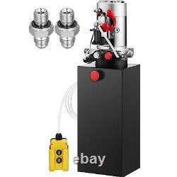 Pompe Hydraulique À Double Action De 12 Volts Pour Remorque De Vidage Grue D'unité De Puissance De 8 Litres