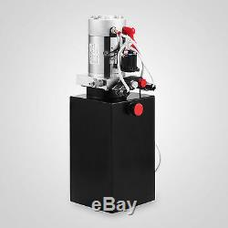 Pompe Hydraulique À Double Effet De 12 Volts Pour La Remorque De Décharge Grue D'unité D'alimentation De 8 Pintes