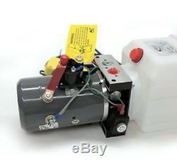 Pompe Hydraulique À Simple Effet Pour Réservoirs À Benne Basculante Kti 12 VDC Réservoir De 6 Pintes