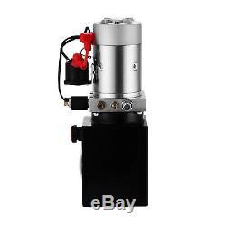 Pompe Hydraulique Dc12v 4 Pintes Simple Effet Pour Déchargements Alimentation