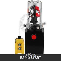 Pompe Hydraulique Simple Effet De Dump Remorque 4 Pintes Réservoir Métallique