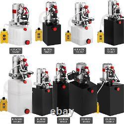 Pompes Pour Remorques Hydrauliques 4/6/8/10/15l Réservoir En Plastique/en Fer À Double Action