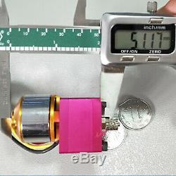Pour Huina 580 Rc Pelle Dump Voiture D'huile Hydraulique Pompe À Engrenages + Moteur Brushless