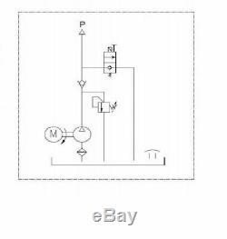 Puissance Benne Remorque Hydraulique Unité 12v 2000 W De L'action À Distance 12 Pintes Pompe