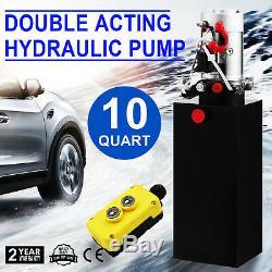 Réservoir De La Voiture 12v De Remorque De Décharge De Pompe Hydraulique À Double Effet De 10 Pintes