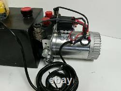 Réservoir En Métal Pour Remorque À Pompe Hydraulique Électrique