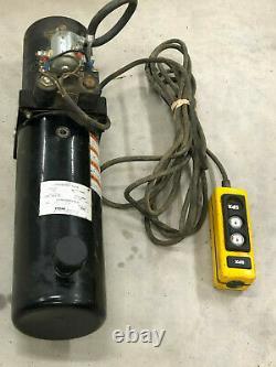 Spx Stone Hydraulic Power Unit Pump Dump Trailer Lift Db-1667 (pour Réparation)