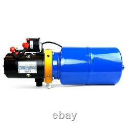 Temco 12v DC Hydraulique Unité De Puissance Dump Trailer Pump 6 Qt Pu / (double Acting)