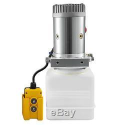 Unité D'alimentation Hydraulique À Double Effet Pour Déchargements 12vdc 3 Pintes Réservoir