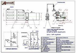 Unité D'énergie Hydraulique 3206c, Pompe Hydraulique, 12v À Effet Simple, 6qt, Remorque De Décharge
