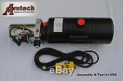 Unité D'énergie Hydraulique 3208c, Pompe Hydraulique, 12v À Effet Simple, 8qt, Remorque De Décharge