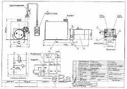 Unité D'énergie Hydraulique 3210s, Pompe Hydraulique, 12v Simple Effet, 10qt, Remorque De Décharge