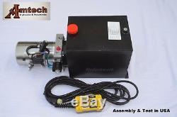 Unité D'énergie Hydraulique 3215s, Pompe Hydraulique, 12v 15qt À Simple Effet, Remorque À Benne Basculante