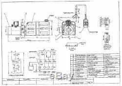 Unité D'énergie Hydraulique 4208c, Pompe Hydraulique, Double Effet 12v, 8qt, Remorque De Décharge