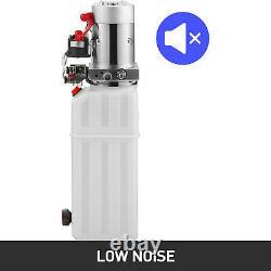 Vevor 10 Quart Pompe Hydraulique À Double Action Pompe À Décharge 12v Réservoir En Plastique