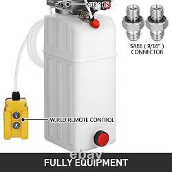 Vevor 10 Quart Unité D'alimentation De La Remorque À Pompe Hydraulique À Double Action 12v 3200 Psi