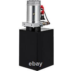 Vevor 12 Quart Double Interaction Pompe Hydraulique Remorque Unité Pack Iron Remote