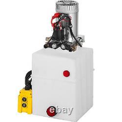 Vevor 20 Quart Pompe Hydraulique Double Action Remorque Déchargement Réparation De Voiture