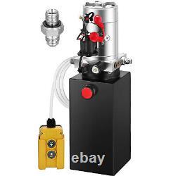 Vevor 6 Qt Metal Single Acting Hydraulic Pump Dump Trailer Unit Pack Power Unit