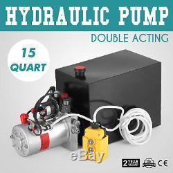 Voiture De Réparation 12v De Remorque De Décharge De Pompe Hydraulique À Double Effet De 15 Pintes